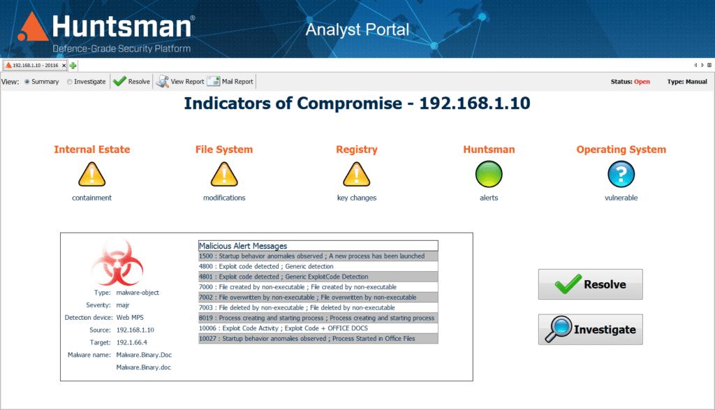 Huntsman Analyst Portal