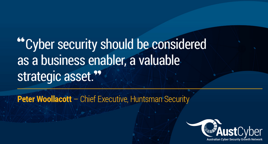 An article by Peter Woollacott talking about cyber security as a business enabler
