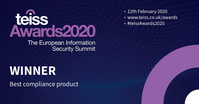 An image of TEISS Awards 2020 - Huntsman Security is the winner of best compliance product